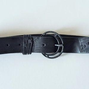 Diesel Black Leather Belt Women's Size 32